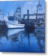 Moonlit Harbor Metal Print