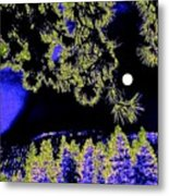 Moonlit High Country Metal Print