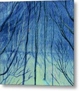 Moonlit In Blue Metal Print