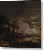 Moonlit Landscape With A View Metal Print