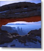 Moonlit Mesa Metal Print