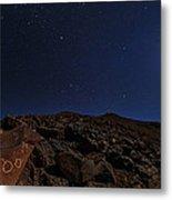 Moonlit Night, Atacama Desert, Chile Metal Print