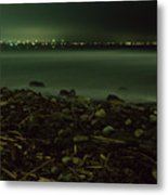 Moonlit Night - The Point Metal Print