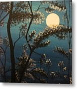 Moonlit Trees Metal Print