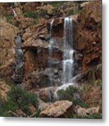 Moonlit Waterfall Metal Print