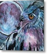 Moonlit Wisdom  Metal Print