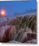 Moonrise At Mammoth Metal Print