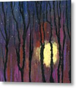Moonrise In December Metal Print