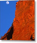 Moonrise In Grand Staircase Escalante Metal Print