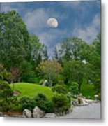 Moonrise Meditation Metal Print