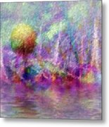 Moonrise On Orchid Bay Metal Print