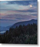 Moonrise Over Crown Point Metal Print