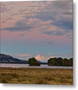 Moonrise Over Loch Leven Metal Print