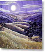 Moonrise Over Monte Bello Metal Print