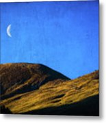 Moonrise Over Queenstown Metal Print