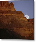 Moonrise Over The Grand Canyon Metal Print