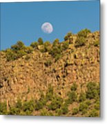 Moonrise Rio Grande Gorge Pilar New Mexico Metal Print
