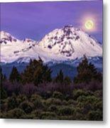 Moonset At Dawn Metal Print