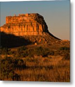 Moonset At Fajada Butte Metal Print