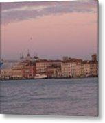 Moonset Over Venice Metal Print