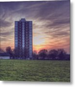 Moor Tower Sunset Metal Print
