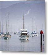 Moored Boats In Morro Bay Metal Print