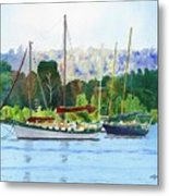 Moored Ketch Metal Print