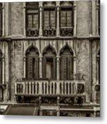 Moorish Style Windows Venice Monotone_dsc1450_02282017 Metal Print