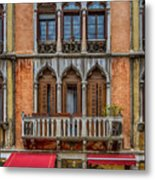 Moorish Style Windows Venice_dsc1450_02282017 Metal Print