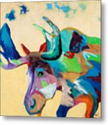 Moose And Blue Clouds Metal Print