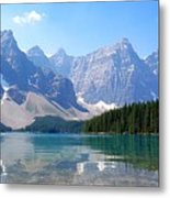 Moraine Lake Down Low Metal Print