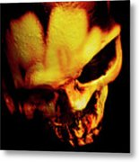 Morbid Decaying Skull Metal Print