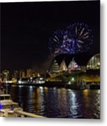 More Fireworks At Newcastle Quayside On New Year's Eve Metal Print