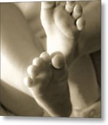 More Little Feet Metal Print by Mamie Thornbrue