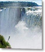 More Waterfalls At Devil's Throat In Iguazu Falls National Park-  Metal Print