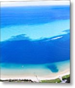 Moreton Island Aerial View Metal Print