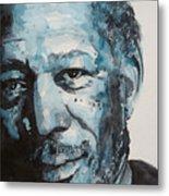 Morgan Freeman Metal Print
