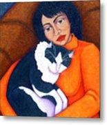 Morgana With Woman Metal Print