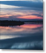Morii Lake At Sunset Metal Print
