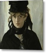 Morisot With A Bouquet Of Violets Metal Print