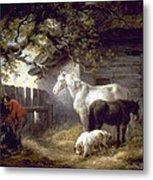 Morland: Farmyard, 1792 Metal Print