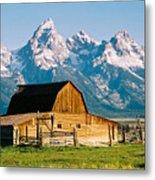 Mormon Barn Metal Print