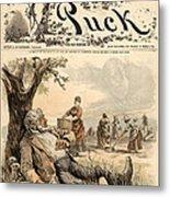 Mormon Cartoon, 1887 Metal Print
