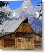 Mormon Row Barn  1 Metal Print
