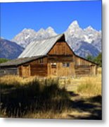 Mormon Row Barn 2 Metal Print