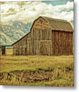 Mormon Row Barn No 3 Metal Print