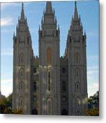 Mormon Temple Fall Metal Print