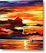 Morning After The Storm - Palette Knife Oil Painting On Canvas By Leonid Afremov Metal Print