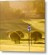 Morning At Golf Course Metal Print