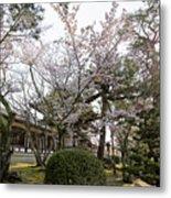 Morning At Horyu-ji Temple Metal Print